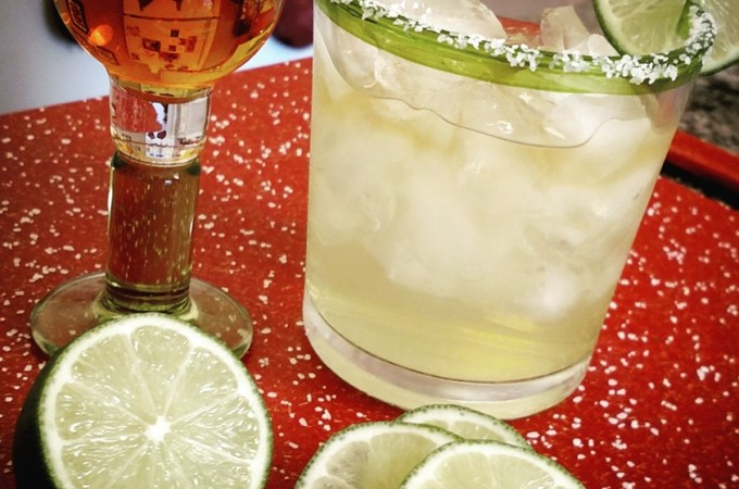 Margarita with Grand Marnier and lime and salt