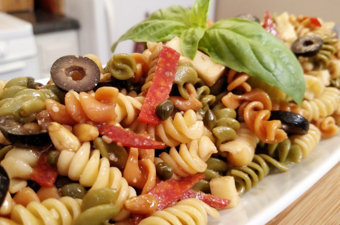 pasta salad on a plate