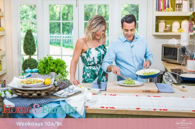 Home and Family // Tiny Kitchen Big Taste // Zoodle Lemon Chicken