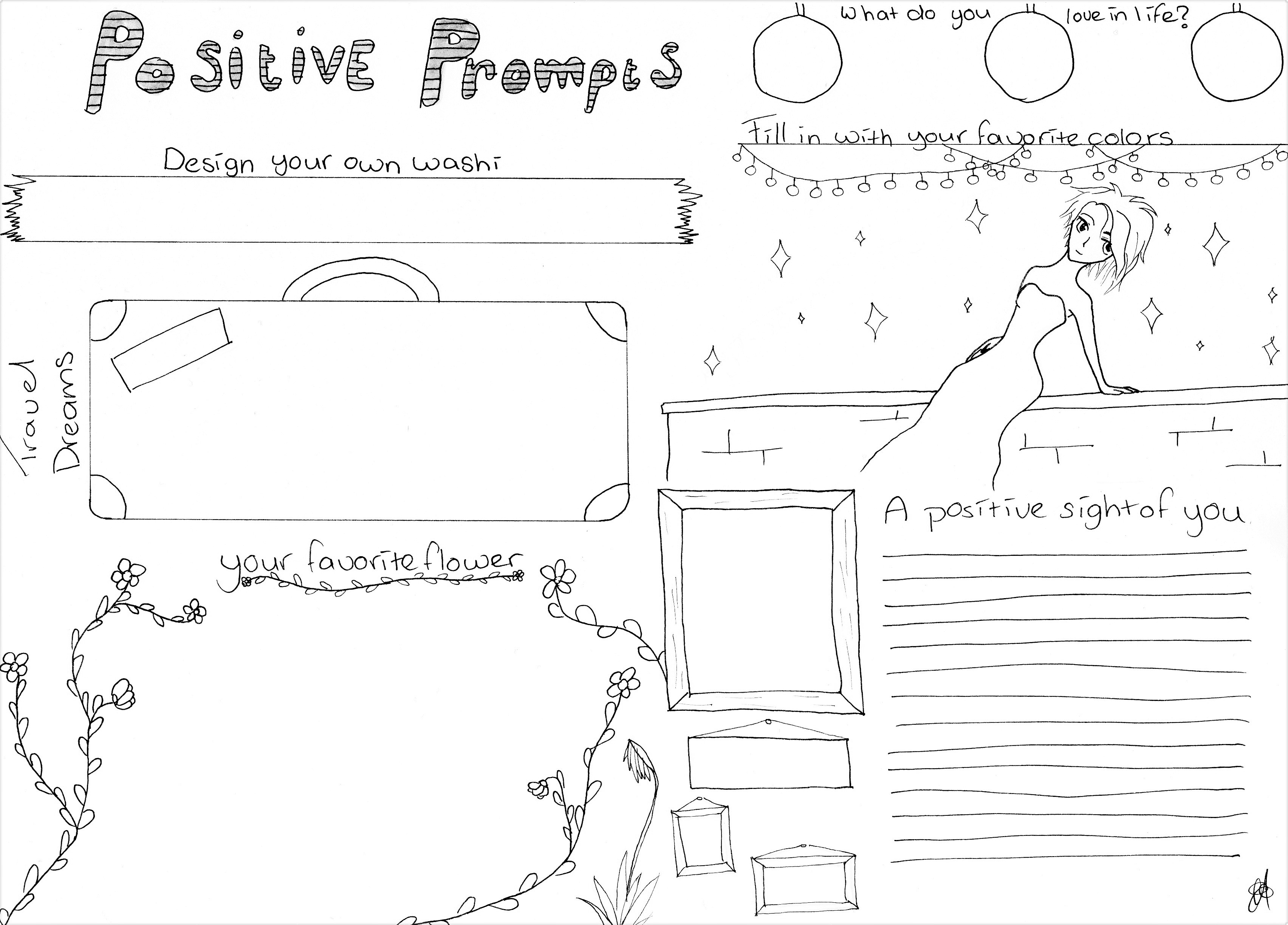 Positive Prompts Worksheet Tiny Little Sunrays