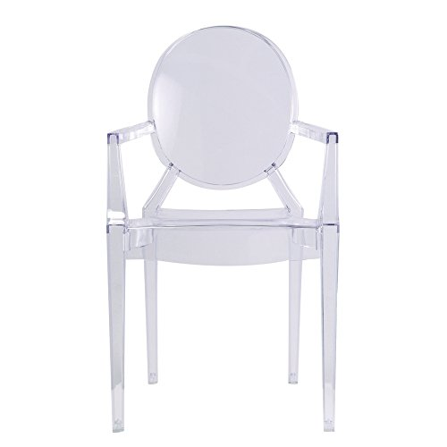 Designer Modern Louis Ghost Arm Chair  Transparent