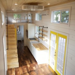 Farmhouse Kitchen Sink High Table And Chairs Custom Gooseneck By Nomad Tiny Homes - Living
