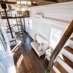 Kitchen Ladder Rustic Island Ideas Custom Loft Edition By Mint Tiny Homes - Living