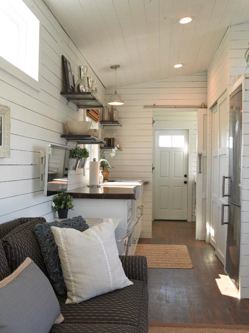 how to set up a kitchen pantry trashcan wandering on wheels tiny home - living