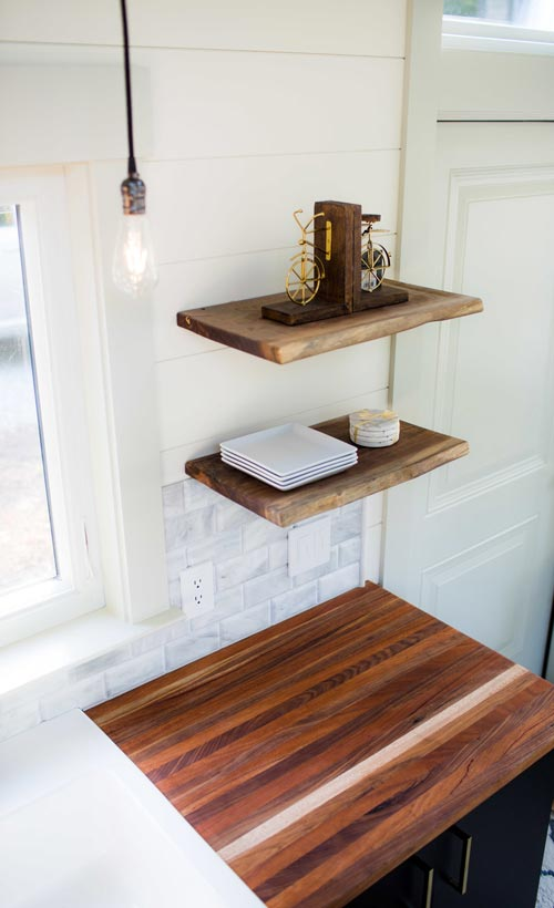 walnut kitchen table countertop materials legacy by wood & heart building co. - tiny living