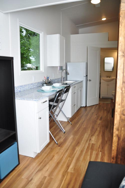 white kitchen faucet pull down cabinet doors for sale baby blue by indigo river tiny homes - living