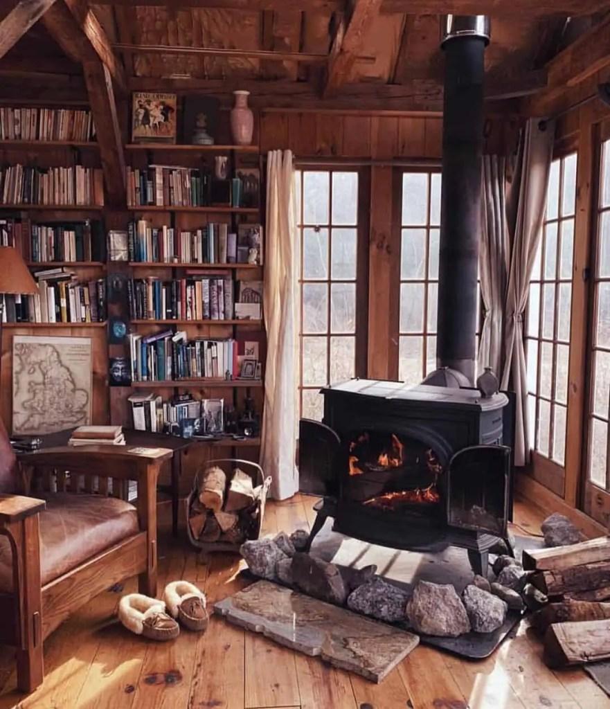 tiny house cozy winter retreat