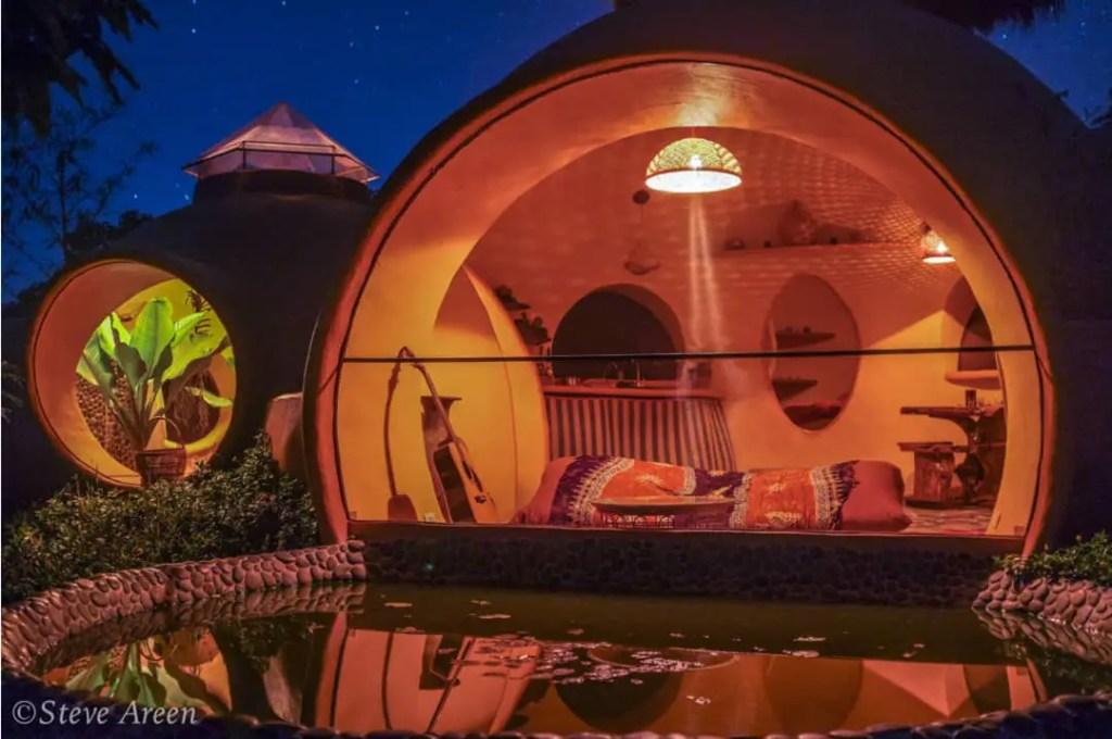 Aircrete dome tiny house