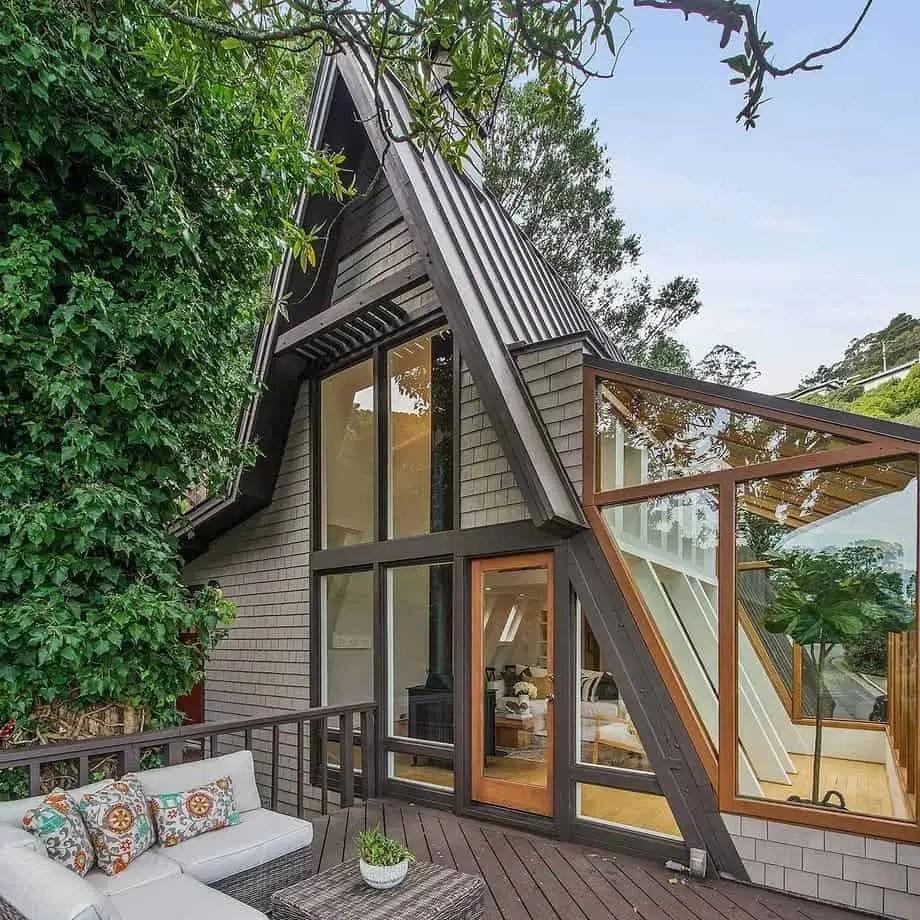 A-Frame designed tiny house