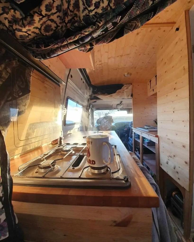 van life full kitchen