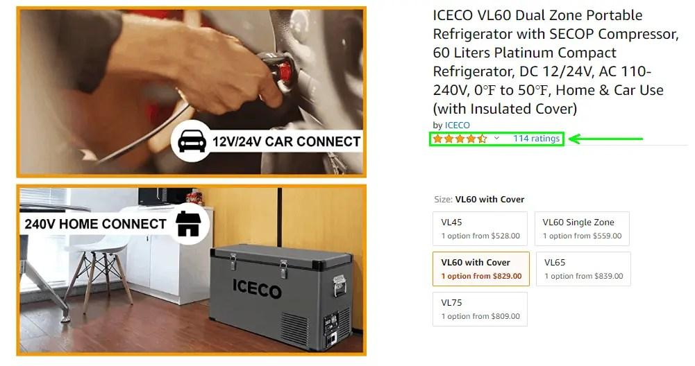 ICECO VL60 Amazon Review