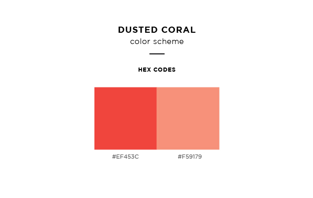 dusted coral color scheme