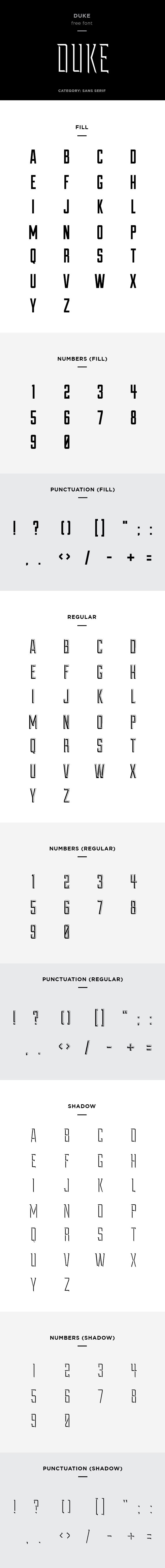 duke font example