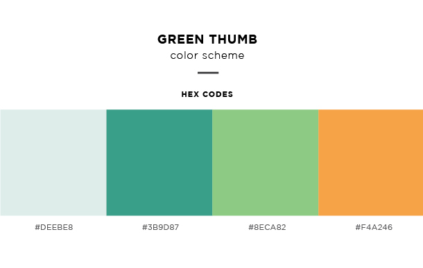 green thumb color scheme