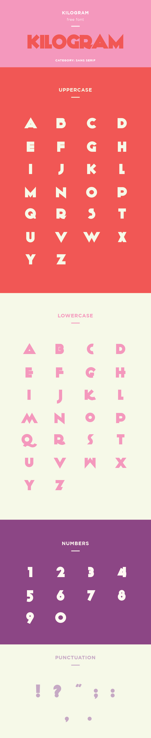 kilogram font example