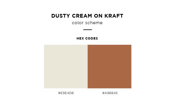 dusty cream on kraft