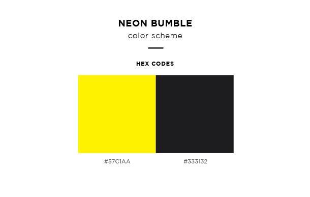 neon bumble color scheme