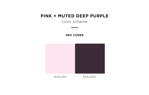 pink and muted deep purple