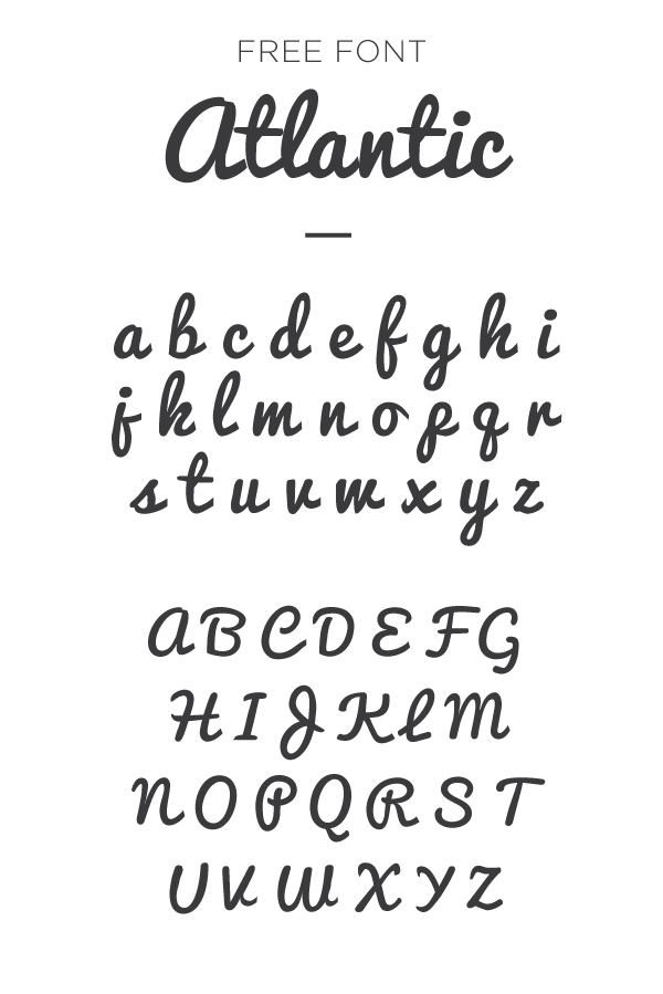 atlantic font example