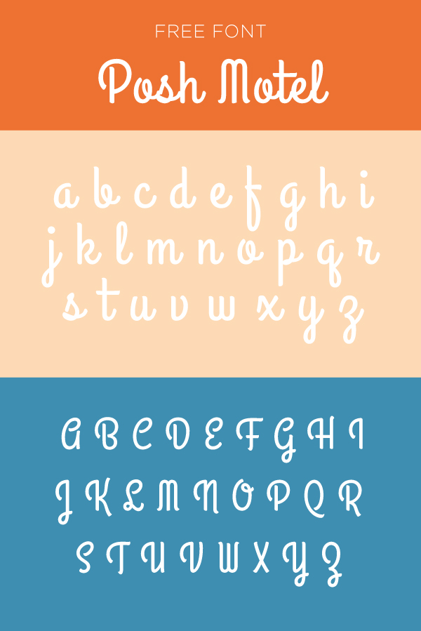 Posh motel font example