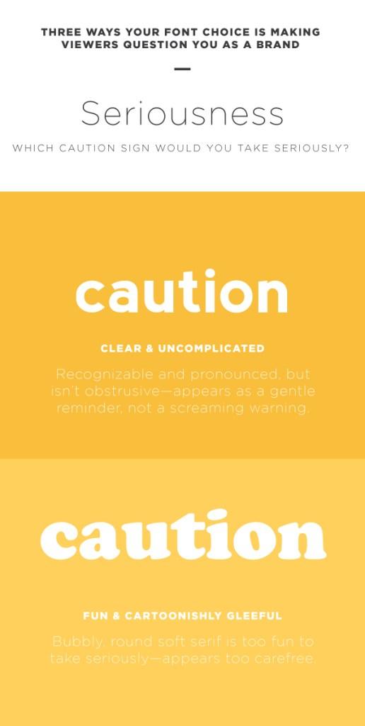 Choose font that you be taken seriously.