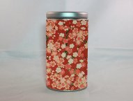 boite à thé en fer motifs papier washi japonais