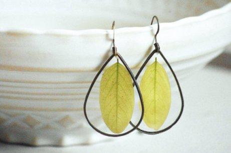Boucles d'oreille feuilles