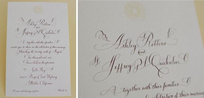 Unique Calligraphy Wedding Invitation Tiny Pine Press