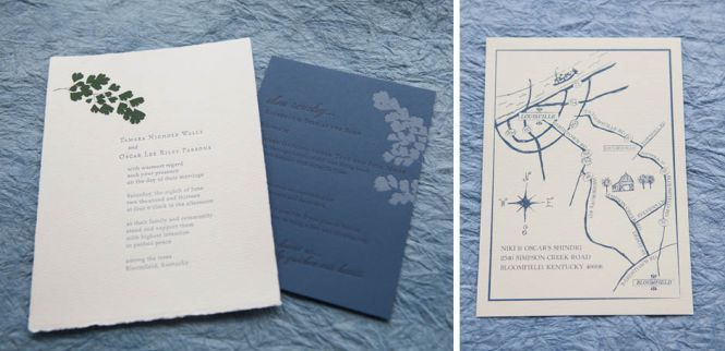 Modern Green Kraft Typography Wedding Invitations Save The