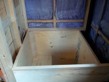The tub is based on Fourlights' Ofuro tub and was modified to fit my house. My tub is mostly built out of plywood.