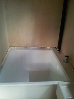 The tub painted.