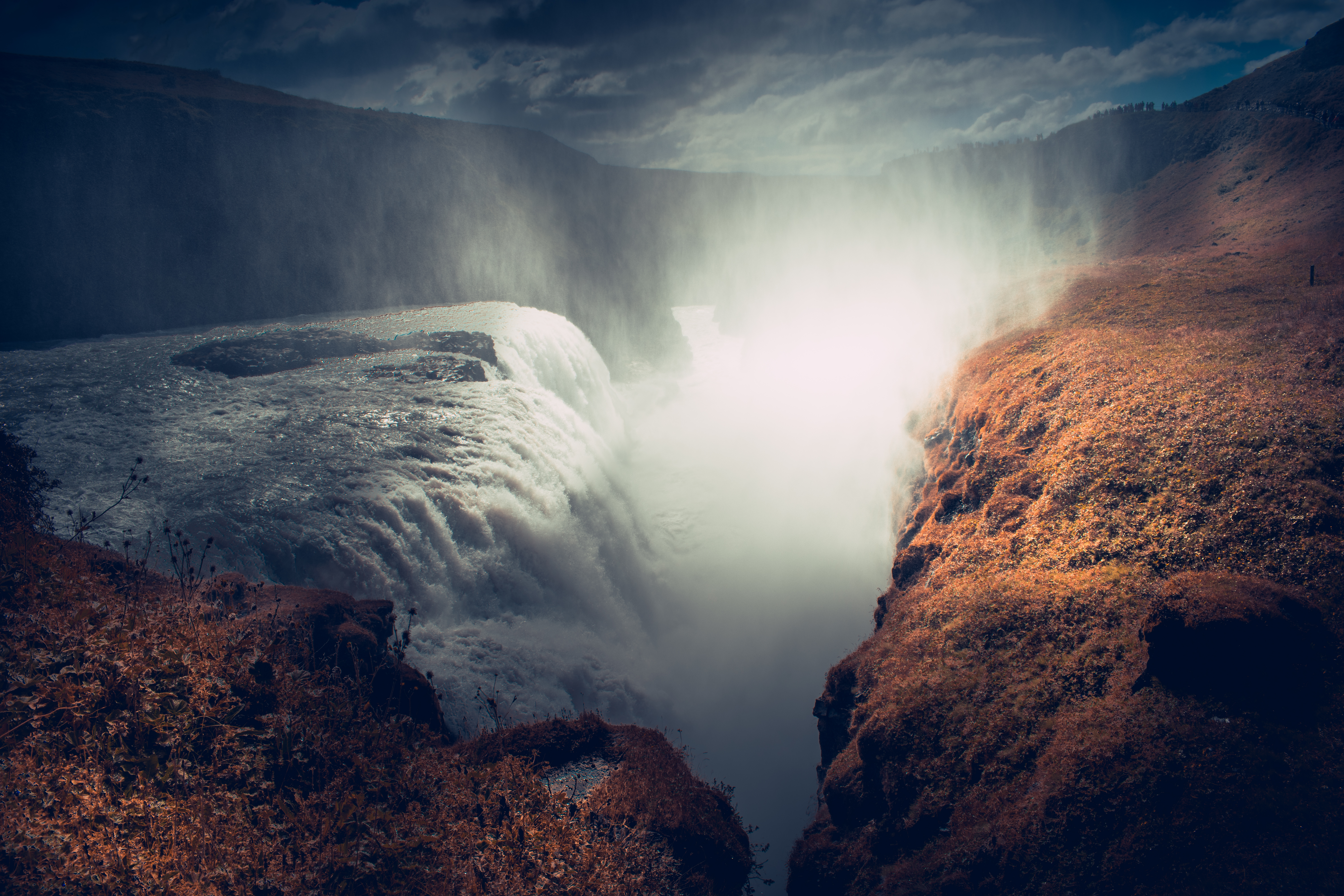 Low light photography of waterfalls