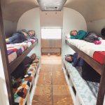 Airstream Renovation Weeks 18 19 Kids Folding Bunk Beds Charging Ports Tiny Shiny Home