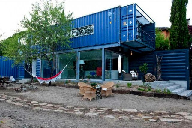 shipping container home idea