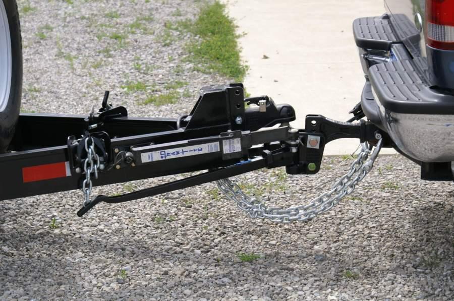 weight distribution hitch setup
