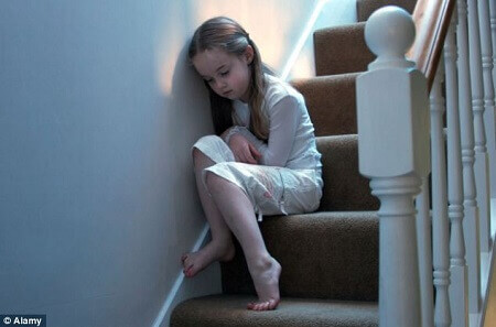 Image of a kid on stairs