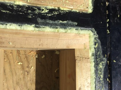 spray foam around subfloor boxes and trailer frame