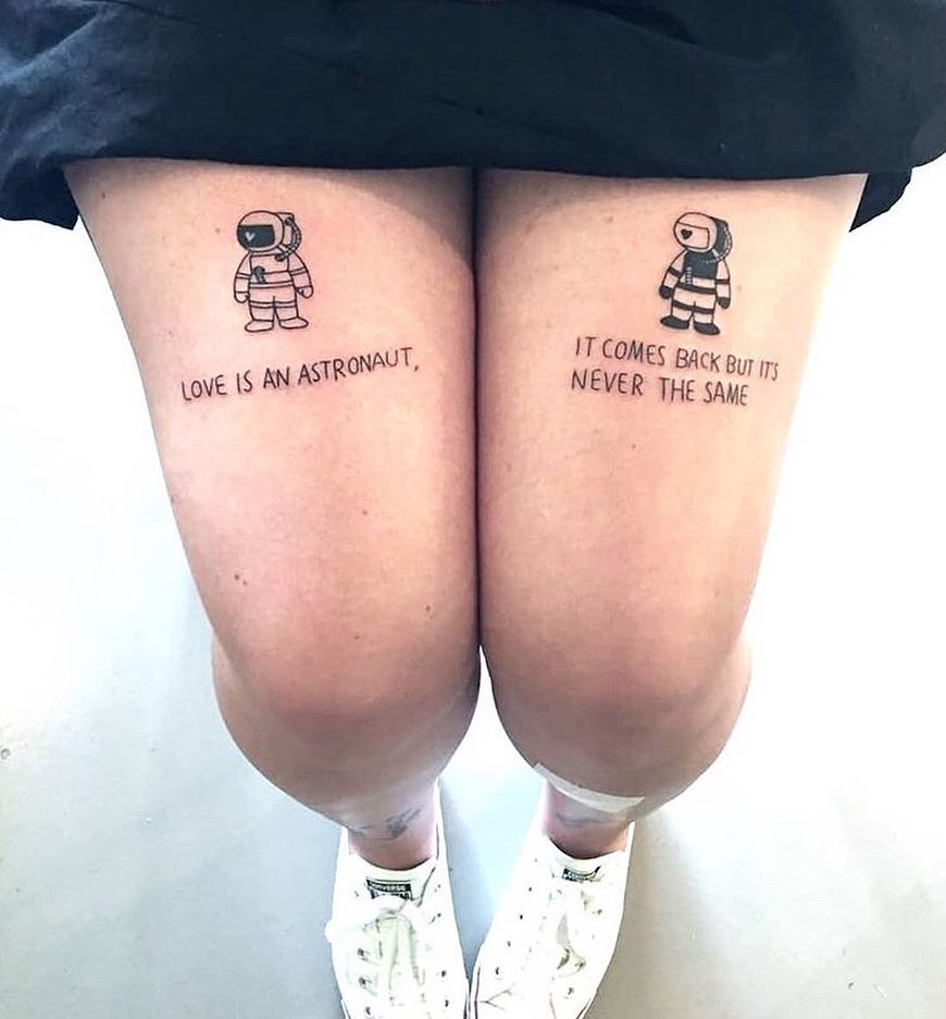 love is an astronaut it comes back but its never the same tattoo