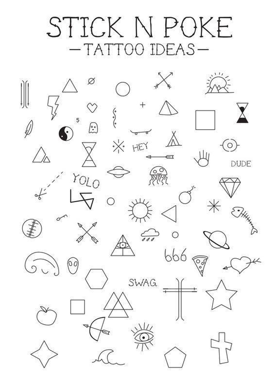 Beginner Tattoo Designs Outlines : beginner, tattoo, designs, outlines, Stick, Tattoos, Tattoo
