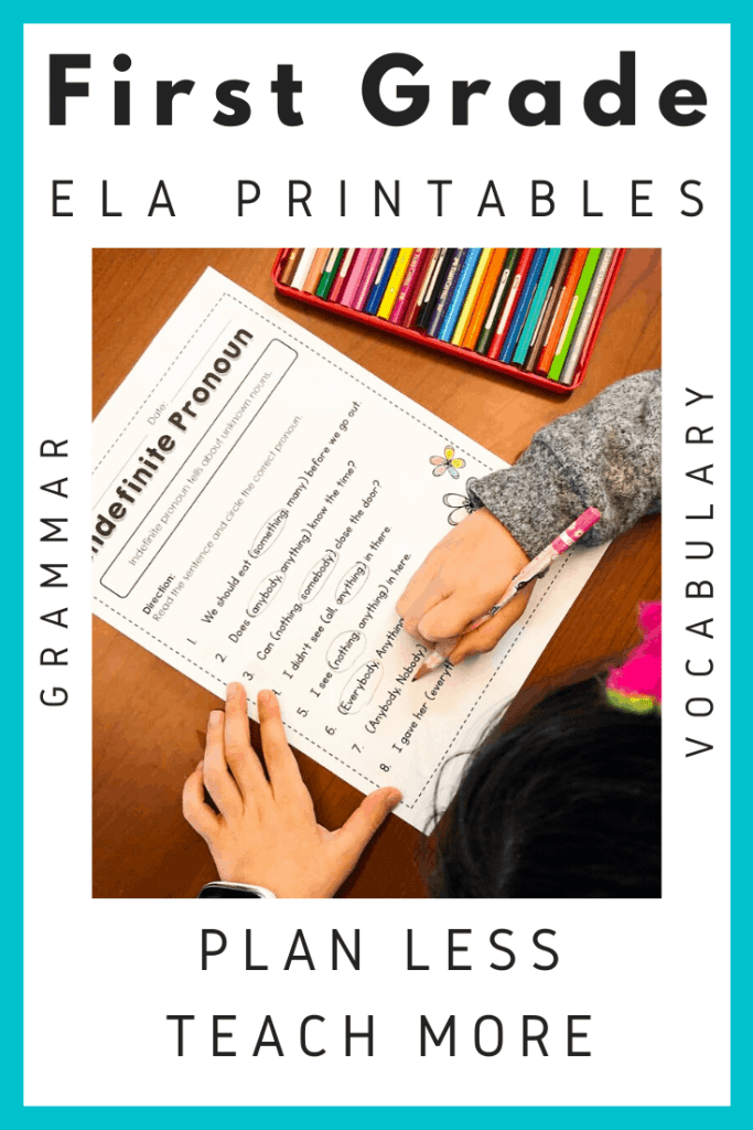 Free first grade grammar worksheets and activities