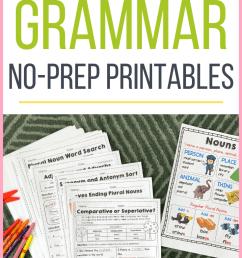 Second Grade Grammar Practice Sheets - Tiny Teaching Shack [ 1102 x 735 Pixel ]