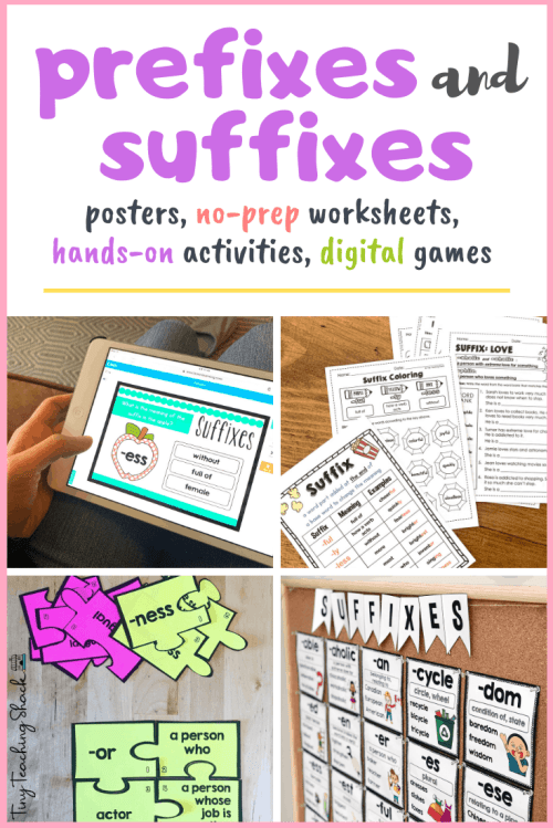 small resolution of Prefixes and Suffixes Activities and Worksheets - Tiny Teaching Shack