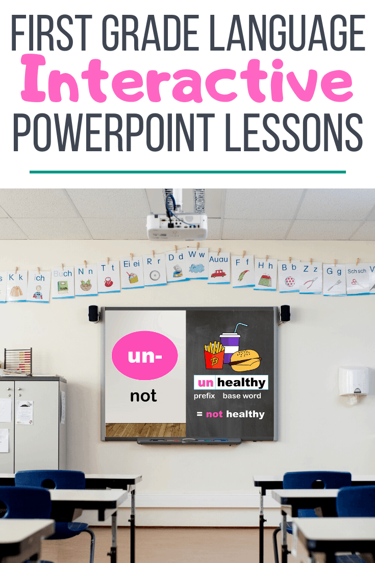 first grade grammar and language powerpoint lesson