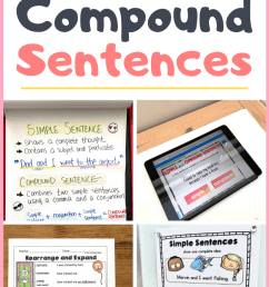 Simple and Compound Sentences - Tiny Teaching Shack [ 1102 x 735 Pixel ]