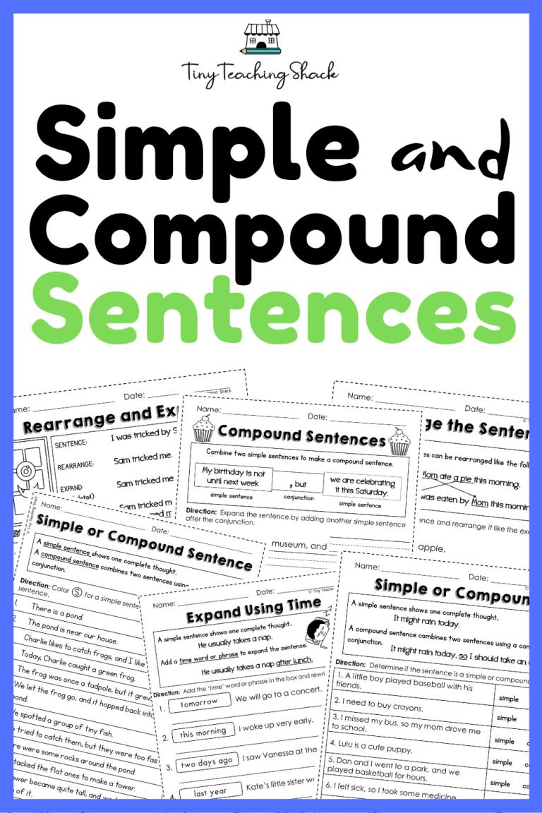 second grade grammar worksheets-compound sentences
