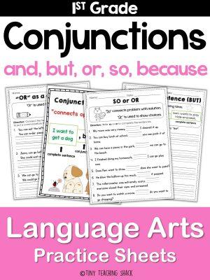 conjunction worksheets