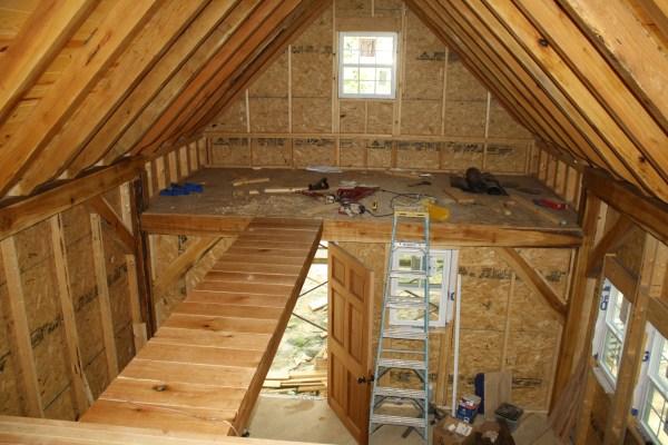 Loft Bridge And Finishing Timbers Building Tiny Timber