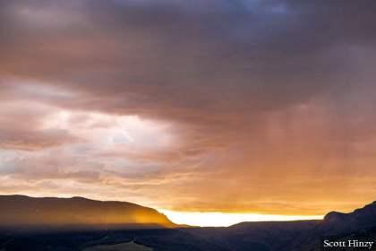 Sunset in Creede, Colorado
