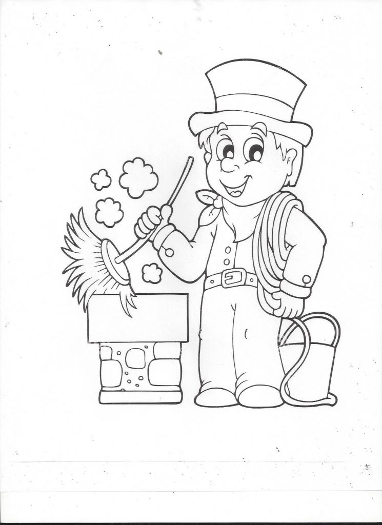 Chimney Sweep Coloring Page