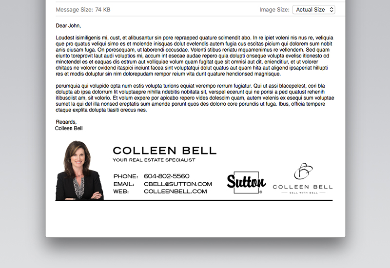 Colleen Bell Email Signature